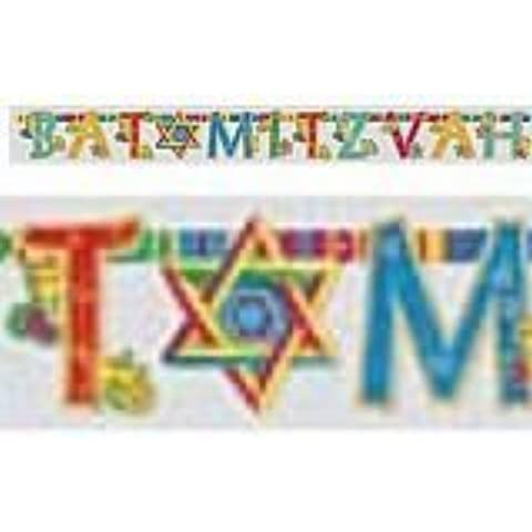 Judaic Expressions Bat Mitvaz 8.5' Letter Banner - Each by AMSCAN