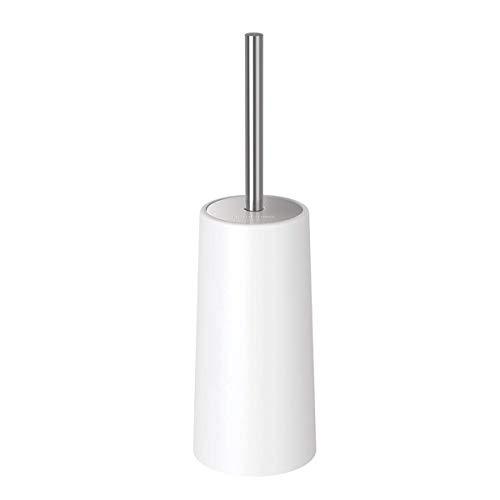 Homemaxs WC-Bürste und Halter Toilettenbürste Modernes Design Längere Bürste und schwer genug für die Toilette (Weiß)