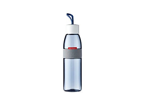 Rosti Mepal Trinkflasche Ellipse 500 ml, Plastik, Nordic Denim, 6.3 x 6.3 x 27 cm
