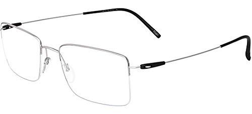 Silhouette occhiali da vista dynamics colorwave nylor 5497 silver black 51/19/0 uomo