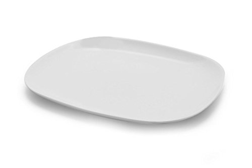 Arcoroc ARC L2804 Solutions Uni Burger Platte, 28x23 cm, Opalglas, weiß, 6 Stück -
