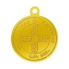 Pendentif Talisman Pentacle de Jupiter 2 doré, Jupiter 2 protection contre les accidents et les dangers, bijoux médaille médaillon amulette