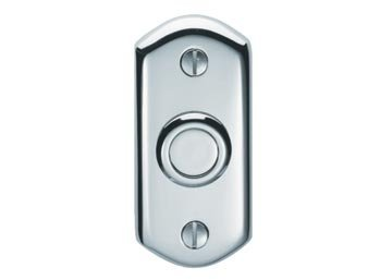 Bell Push, Satin Chrome by Carlisle Brass Carlisle Bell