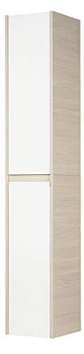 Fackelmann 83463 Hochschrank Viora, 2 Türen, Türanschlag rechts, 4 Glaseinlegeböden, BxHxT: 30 x 175 x 34 cm