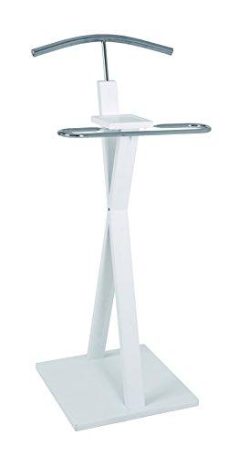 HAKU Möbel 38339 Herrendiener, 40 x 43 x 108 cm, weiß-chrom