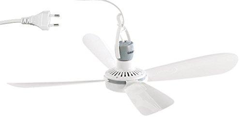 PEARL Ventilator: Mobiler Deckenventilator VT-145.D, 230 Volt, mit Aufhänger, Ø 40 cm (Deckenventilator mit Akku) (Camping-zelt Zimmer)