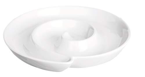Excelsa White Home Antipastiera a Spirale, Porcellana, Bianco, 18 x 18 cm
