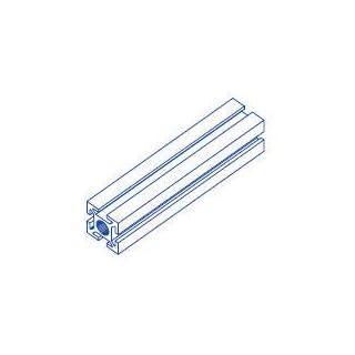 Alu-Profil 32x32 Nut 8 System S100 150 Aluminium-Konstruktion-Profile Strebenprofil Stangen Systemprofil Profile vom Profi (90, alu silber)
