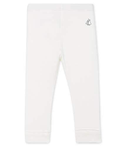 Petit Bateau Baby-Mädchen 5018205 Leggings, Weiß (Marshmallow 05), 62 (Herstellergröße: 3M/60cm)