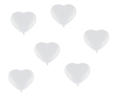 allons in Weiß - Made in EU - 100% Naturlatex somit 100% giftfrei und 100% biologisch abbaubar - Liebe Hochzeit Valentinstag - für Helium geeignet - twist4® ()