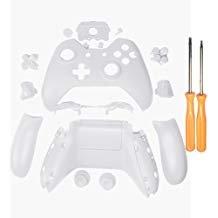 YICHUMY Matte, Weiß Controller Gehäuse Gehäuse Full Set Blenden Tasten für Microsoft Xbox One Controller mit 3,5 mm Headset-Buchse Xbox One Controller Shell Kit mit 3.5 Port