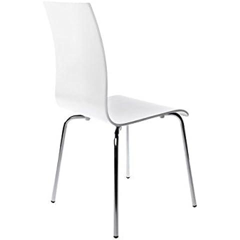 Kokoon ch00060wh Classic silla madera 41x 48x 88cm), color blanco