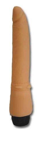Orion 557927 Nature Skin Vibrator,  ca. 20,5 cm lang,  Ø ca. 4,5 cm, inkl. Gleitmittel (Flutschi) und Talkum-Puder. - Talkum-puder Natur