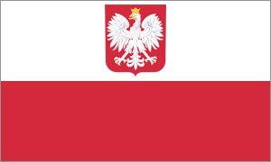 Riesen-Flagge: Polen mit Adler 150cm x 250cm (Polen Flaggen)