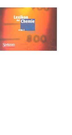 Lexikon der Chemie, 1 CD-ROMFür Windows 95/98/2000/NT