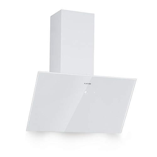 KLARSTEIN Laurel 60 - Hotte aspirante, 60cm, débit d'air extrait : 350m³/h, éclairage LED, écran Tactile, Filtre à Graisse, Aluminium, recirculation Possible, Blanc