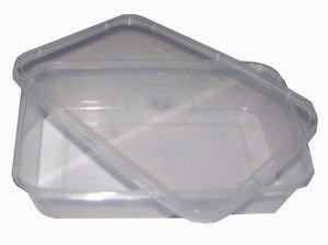 PPD 100 X 1000 ml in plastica per bevande da asporto, contenitori per alimenti per forno a microonde con coperchio