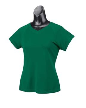 Damen 4 oz.Double Dry Performance T-Shirt, Dunkelgr¨¹n, L (T-shirt Performance Dry Double)