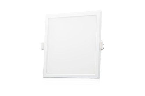 Syska 15 Watts Square LED Slim Recessed Panel Light – RDL Series (Pack of 6, Warm White)