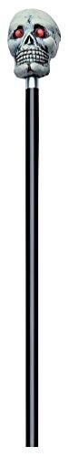 Rubie's offizieller 121,9cm Lange Stock mit Totenkopf für Halloween für Erwachsene (Einheitsgröße)