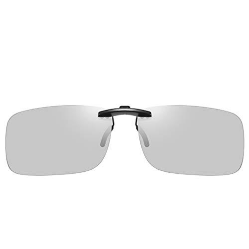 WHQ Sonnenbrille Mann, Brille Clip Fahren Strahlenschutz Anti-UV-Augenschutz Polarisierte Sonnenbrille QD (Color : A)
