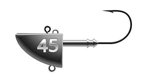 K.P Mustad Fish Head Vertikal Jig Kopf Fisch Hakengröße 4/0 45 Gramm 2 Stück -