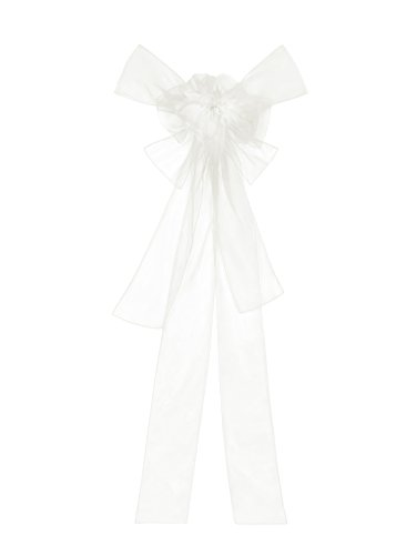 Preisvergleich Produktbild ivory Organza Schleife (dunkles weiß) Organzatraum als große und elegante Geschenkschleife
