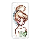 Black/White Sides Classic Style Custom Unique Tinkerbell Design Skin Cover Case for iPod Touch 5th Durable Plastic iPod 5 Case - Custom Les Paul Classic