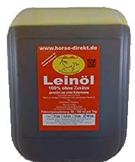 Horse-Direkt Leinöl 20 Liter, aus erster Kaltpressung, Pferd, Hund, 2X 10 Ltr. Kanister