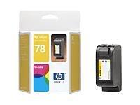HP Cartucho tricolor de inyección de tinta HP 78 78 Inkjet Print Cartridges, 0.17 kg (0.375 libras), 0.116  0.125 kg (0.256  0.276 libras)