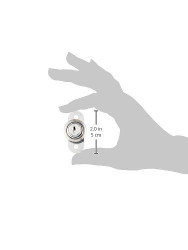 Silber Ton Metall Schiebetür Showcase Zylinder Kolben Lock w zwei Schlüssel