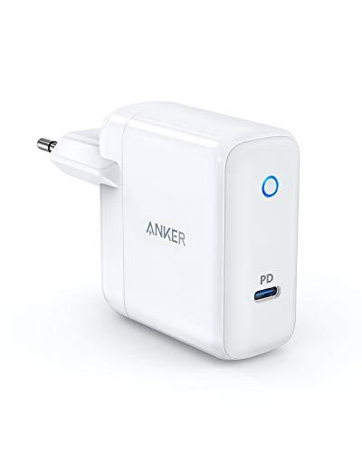 Anker USB-C Wandladegerät,30W USB Ladegerät mit Power Delivery, PowerPort Speed 1 für MacBook Pro/Air 2018, iPad Pro 2018, iPhone XS/XS Max/XR/X/8, Nexus 5X / 6P, LG G5,Samsung W700 und viele mehr 15w Power Adapter