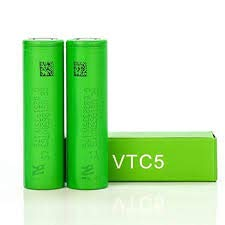 2 Authentic VTC5, 2600mAh 30A, Flat Top Recargable batería Recargable