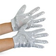 Silberne Pailletten Handschuhe (Hut Jackson Michael)