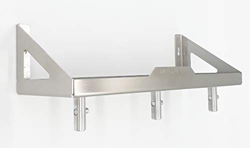 HL-Perfektion-in-Edelstahl Kompatibel für KitchenAid Knethaken Schneebesen Flexirüherer Halterung mit Ablage Gewürzregal