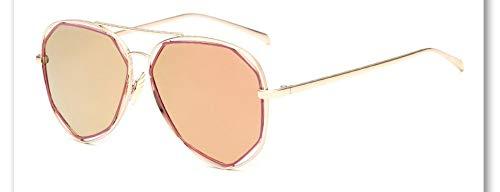 Sonnenbrille,Neue Big Frame Brille Männer Frauen Sonnenbrille Vintage Goggles Sommer Style Designer Sonnenbrillen Golden Pink