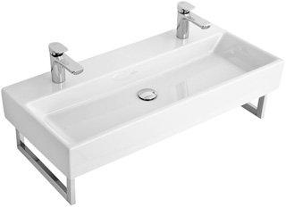 Villeroy & Boch Waschbecken MEMENTO 5133C6 120x47cm ohne Hahnloch mit Überlauf weiß alpin, 5133C601