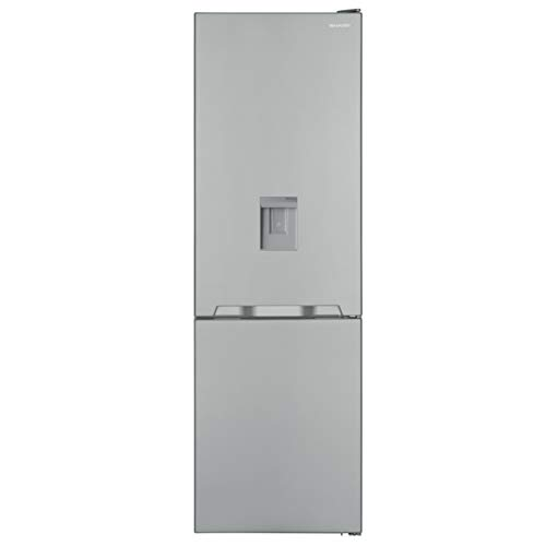 Sharp SJ-BA10IMDI2-EU Kühl-Gefrier-Kombination / A++ / Höhe 186 cm / Kühlteil 230 L / Gefrierteil 94 L / NoFrost / LED-Piktogramme / GentleAirFlow / Wasserspender / Null-Grad-Zone / Edelstahl