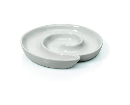 2-er Set Olivenschnecke aus Porzellan Ø 17 cm, Beilagenschale, weiß, Verschiedene Größen erhältlich (Ø 17, 24, 33 cm), in Gastronomie-Qualität