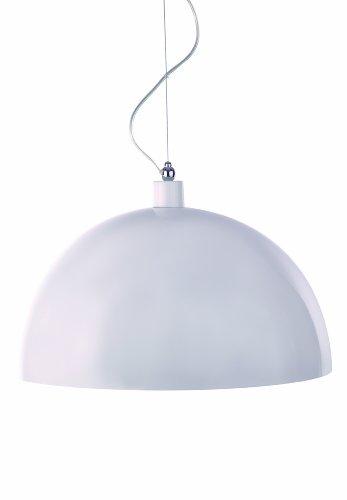 Aluminor DOME RS B - Lampadario a sospensione, 40 W E27, colore: bianco