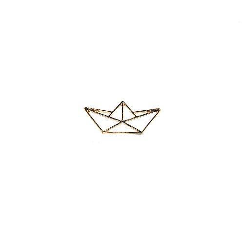 Origami Boot, Metall, 31 x 18 mm, 5 Stück 31x18 mm goldfarben (Boot Origami)