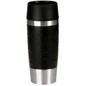 Emsa Isolierbecher Travel Mug 0,36l schwarz/silber