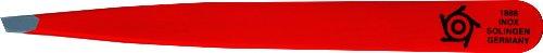 Pfeilring Pince à épiler inclinée Acier inoxydable Rouge