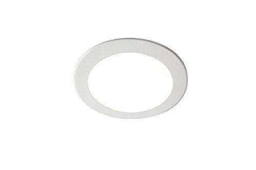 GedoTec Design LED-Deckenleuchte Deckenlampe PLANA 2.0 XS Aluminium weiß | Leuchten Ø 100 mm |...