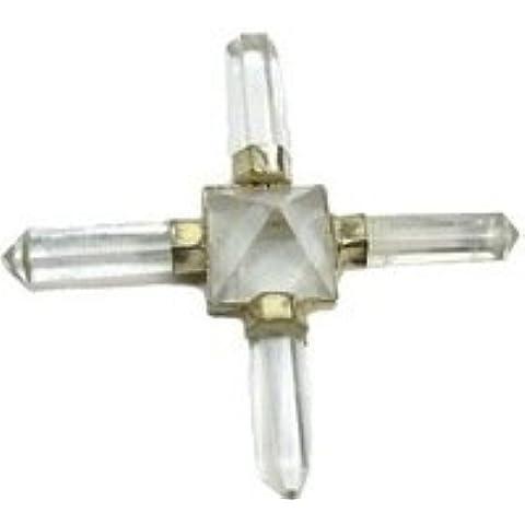 Beautiful potente Dr Usui Reiki simboli punto Piramide cristallo Generatore di energia con griglia di equilibrio Clear Quartz