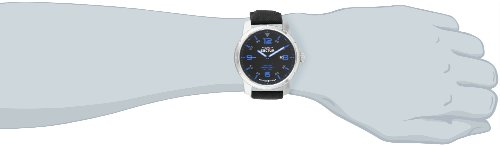 Sector Men's Quartz Watch with Black Dial Analogue Display and Black Leather Strap R3251189001