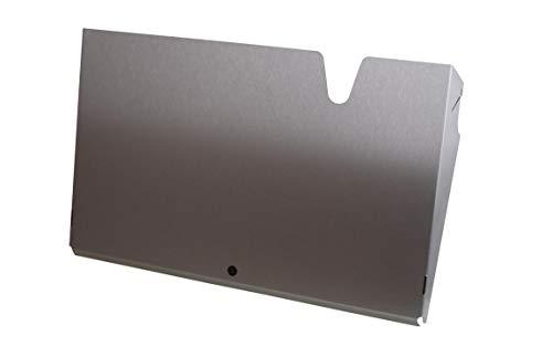 Teknomek A3[Querformat] Wandprospekthalter -Einzeltasche [Horizontal] Edelstahl-Broschürenhalter | Stapelbares Design - 440 x 280 x 100mm