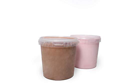 ZamaZo Eisbehälter 2er oder 4er Set 1,18 L | Gefrierdose | Aufbewahrungsbehälter für Speiseeis | Lebensmittelqualität | BPA- frei | transparent (2)