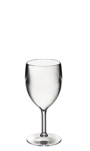 Set di 6 roltex riutilizzabili, in plastica policarbonato infrangibile piccoli bicchieri di vino. 200ml a rim, altezza 14,9 centimetri di diametro massimo 6.7 cm