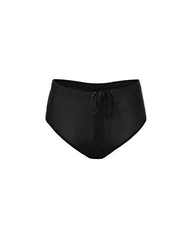 Rocorose Damen Tankini Große Größen, Zweiteiliger Badeanzüge Schwarz